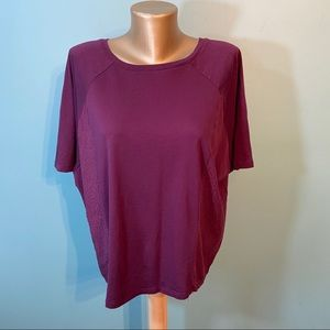 14th and union oversized purple shirt